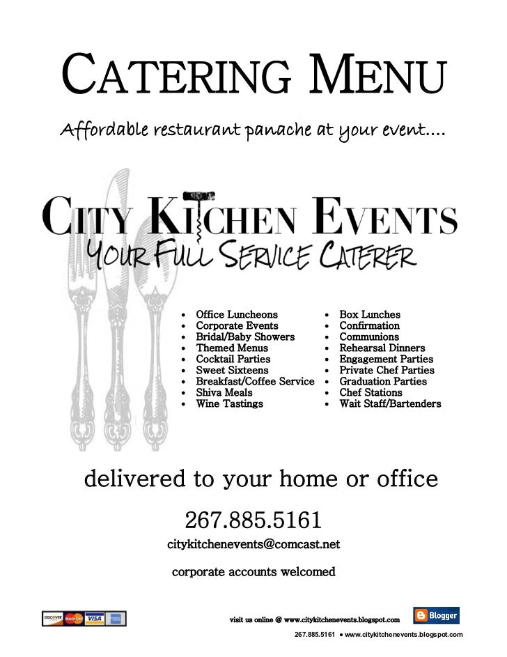 CATERING MENUAffordable restaurant panache at your event….                 Office Luncheons                      Box Lun...