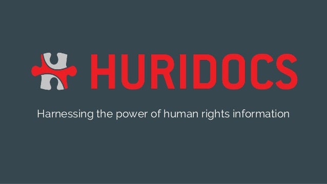 Harnessing the power of human rights information