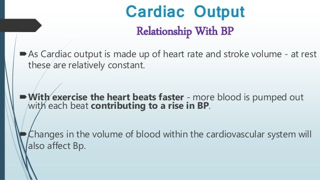 heart rate and cardiac output relationship counseling