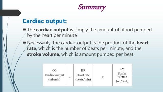 Events Of Cardiac Cycle And Cardiac Output