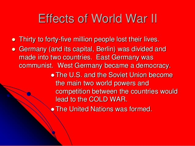 how did world war 2 change Answerscom ® wikianswers ® categories history, politics & society history war and military history world war 2 how did world war 1 change europe what would you.