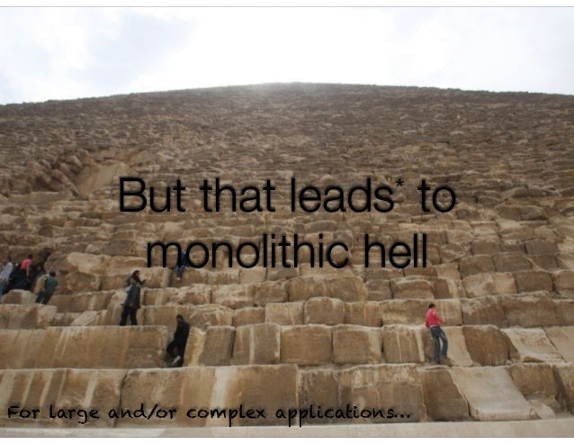 @crichardson But that leads* to monolithic hell For large and/or complex applications…
