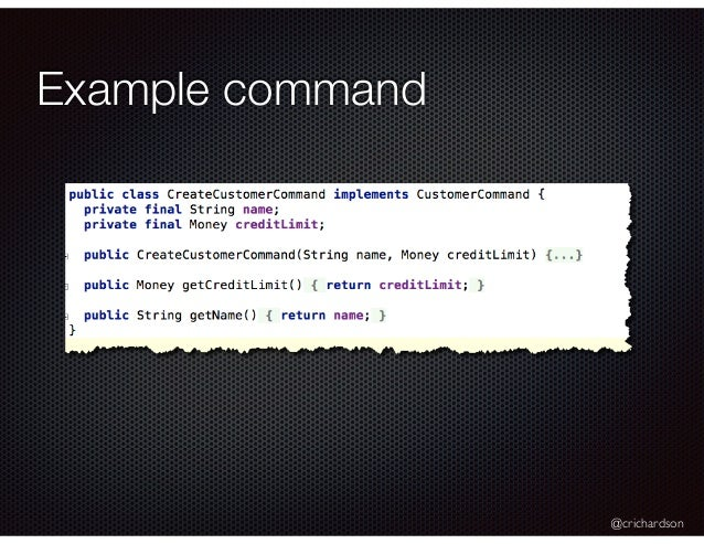 @crichardson Example command