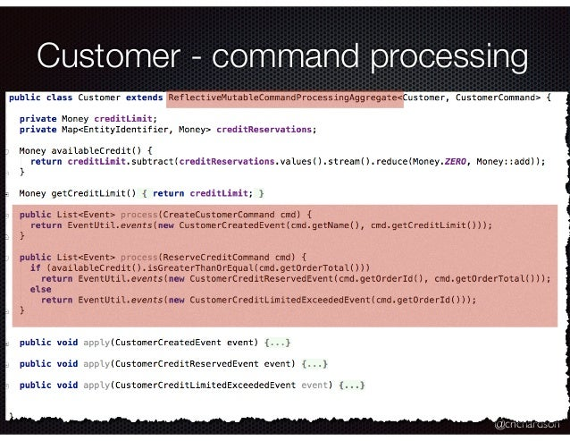 @crichardson Customer - command processing