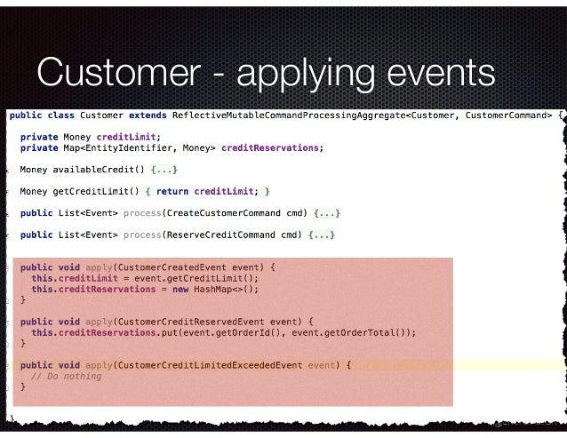 @crichardson Customer - applying events