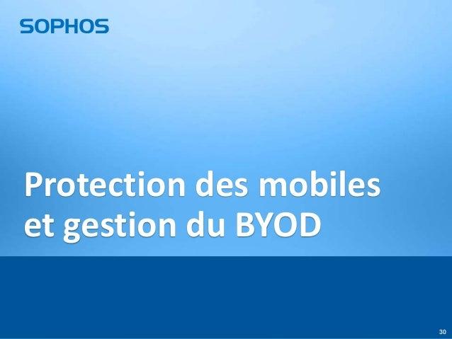 Protection des mobiles et gestion du BYOD 30