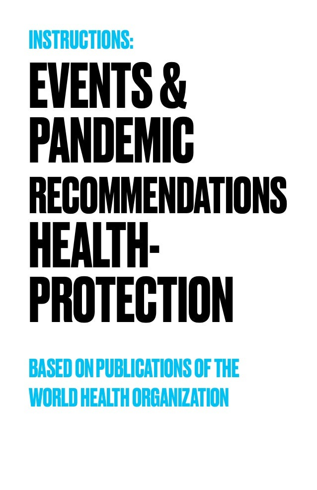 Events & Pandemic - Recommendations Health Protection by MICEboard Slide 2