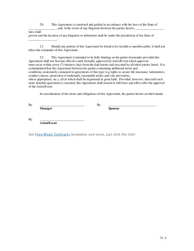 Event sponsorship contract – Event Sponsorship Agreement Template