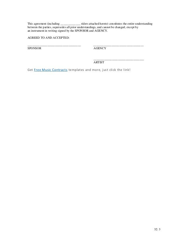 SlideShare  Event Sponsorship Agreement Template