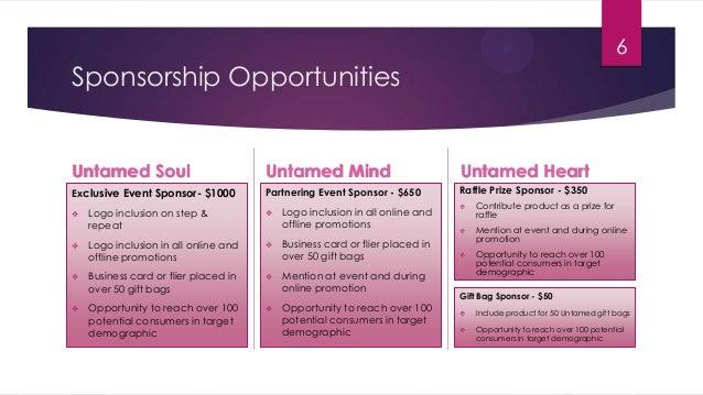 Presentation for sponsorship for an event