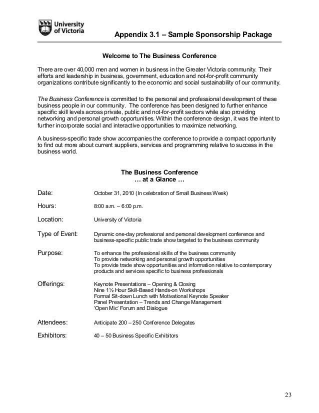 Event toolkit 2011 exhibit liaison 22 23 appendix 31 sample sponsorship spiritdancerdesigns Image collections