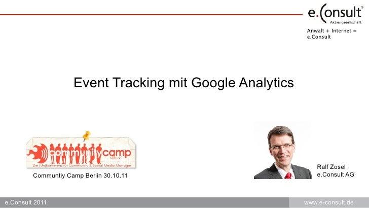 Anwalt + Internet =                                                           e.Consult                     Event Tracking...