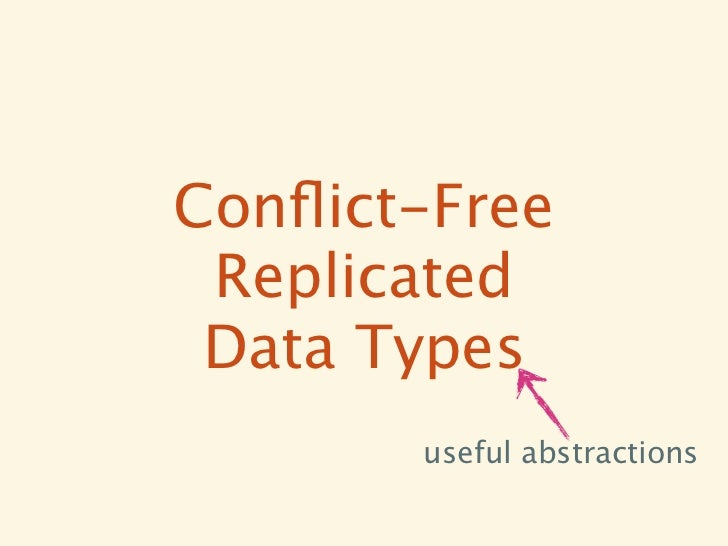 Conflict-Free Replicated Data Types       useful abstractions