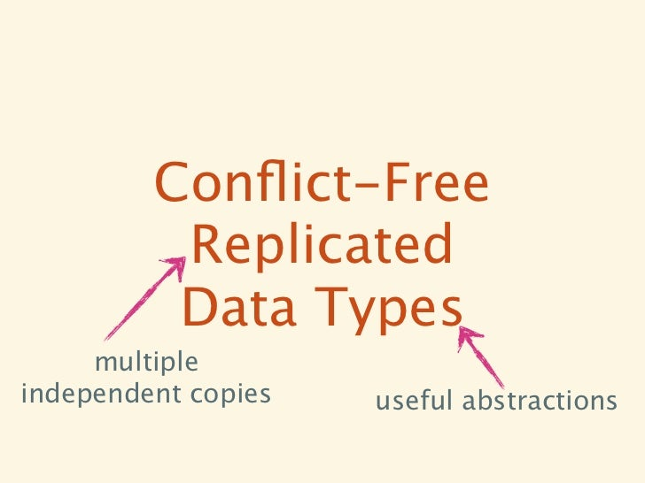 Conflict-Free          Replicated          Data Types     multipleindependent copies   useful abstractions