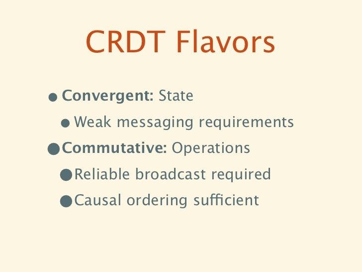 Convergent CRDTs