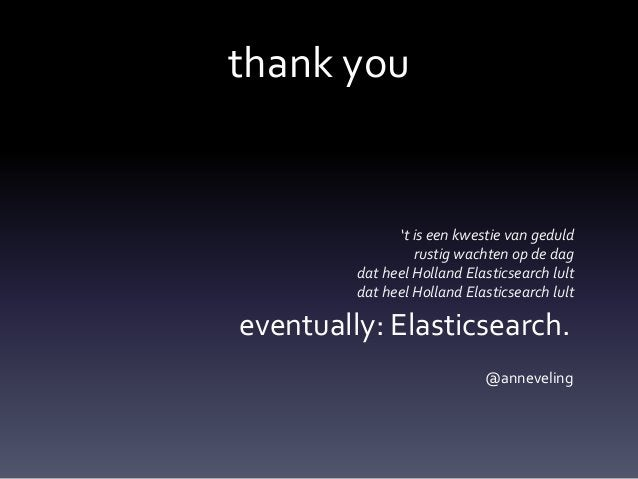 Eventually Elasticsearch: Eventual Consistency in the Real World