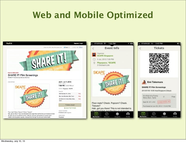 Web and Mobile Optimized Wednesday, July 10, 13