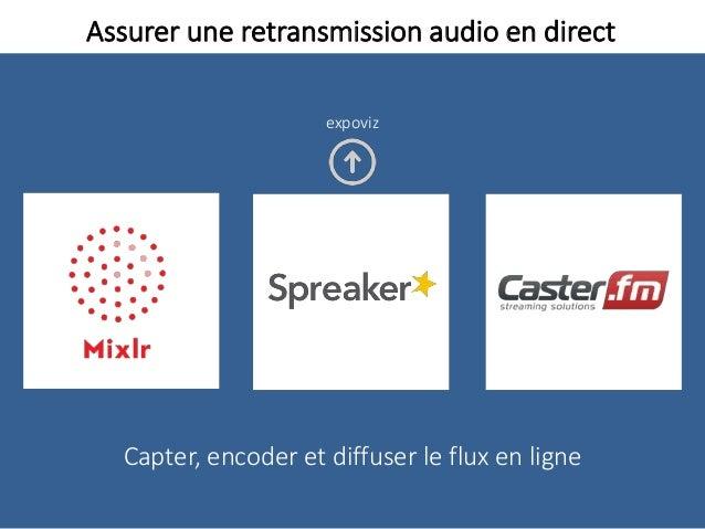 Assurer une retransmission audio en direct Capter, encoder et diffuser le flux en ligne expoviz