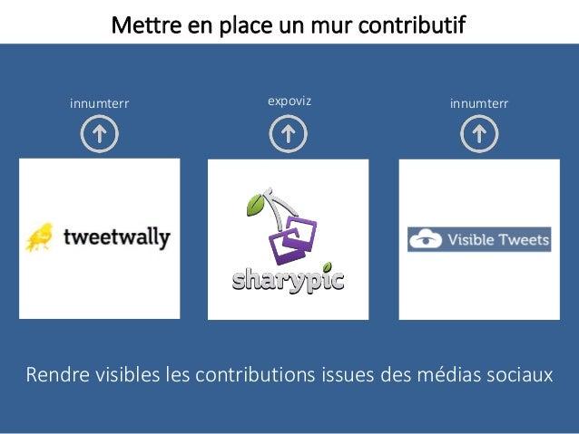 Mettre en place un mur contributif Rendre visibles les contributions issues des médias sociaux expoviz innumterrinnumterr