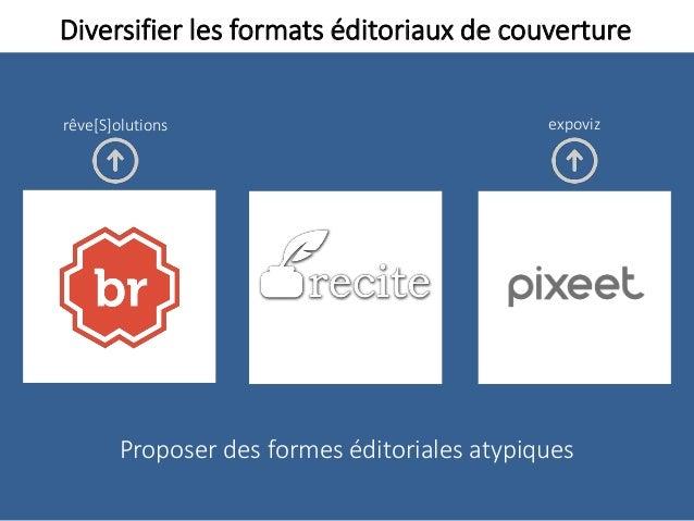 Diversifier les formats éditoriaux de couverture Proposer des formes éditoriales atypiques expovizrêve[S]olutions