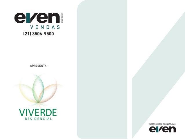 Even vendas - Viverde Residencial - Oficial