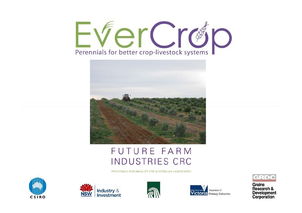 EverCrop Aims   To develop improved farming systems for the  crop-livestock zone i       li   t k       incorporating pere...