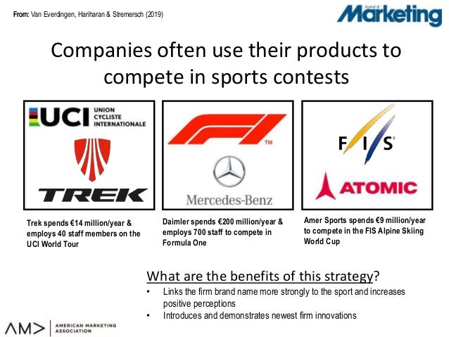 From:From: Companies often use their products to compete in sports contests Van Everdingen, Hariharan & Stremersch (2019) ...
