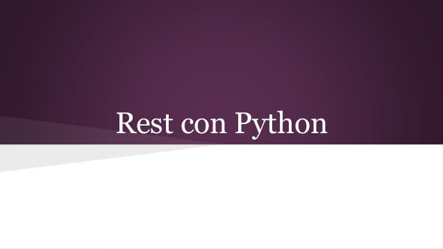 Rest con Python