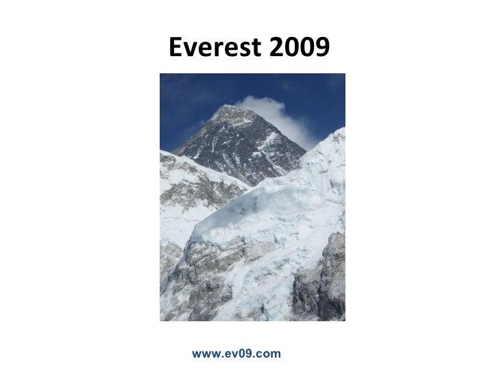 Everest 2009      www.ev09.com