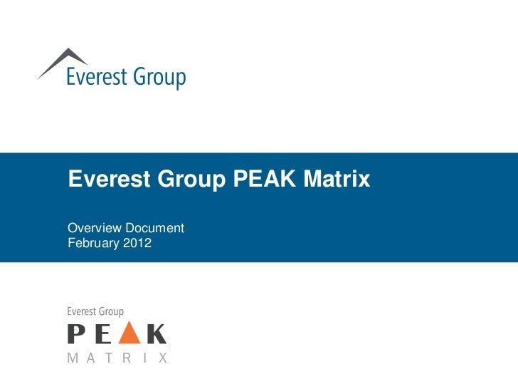 Everest Group PEAK MatrixOverview DocumentFebruary 2012