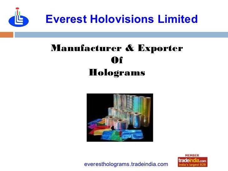 Everest Holovisions LimitedManufacturer & Exporter          Of      Holograms             roto1234      everestholograms.t...