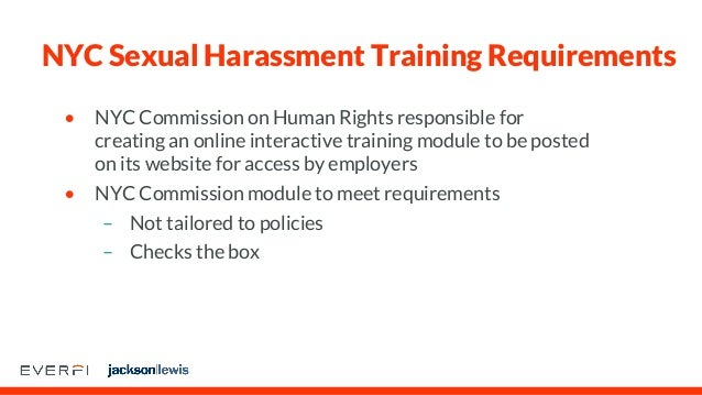New sexual harassment training