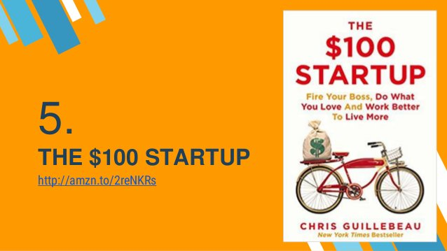5. THE $100 STARTUP http://amzn.to/2reNKRs