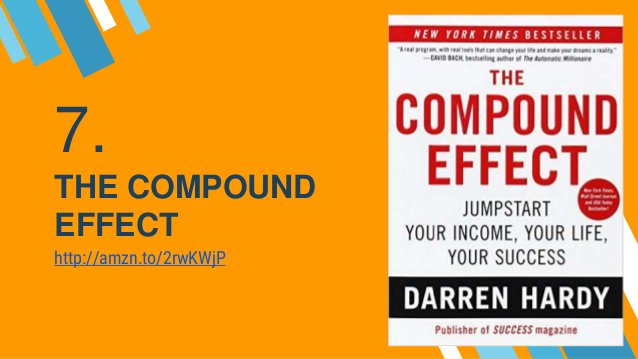 7. THE COMPOUND EFFECT http://amzn.to/2rwKWjP