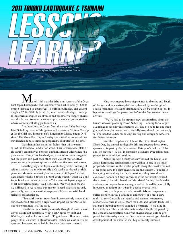 Washington military department evergreen magazine vol i for Evergreen magazine