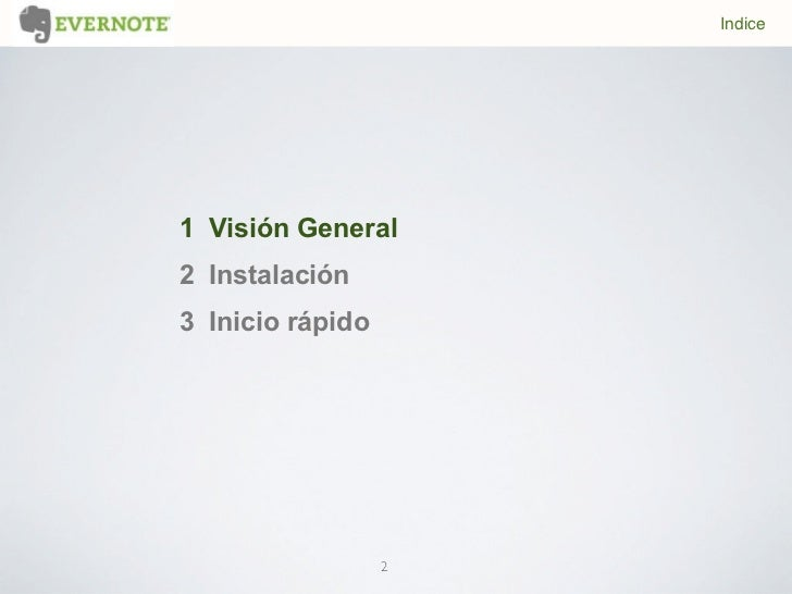 Tutorial Evernote Slide 2
