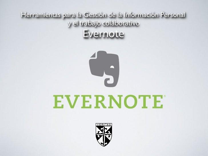 y el trabajo colaborativo     Evernote