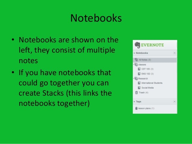 how to use evernote notebooks