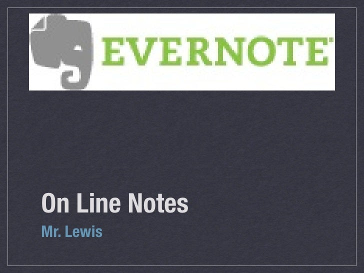 On Line Notes Mr. Lewis