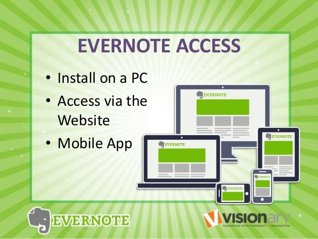 Evernote visionary presentation 3 use evernote for storing images business cards reheart Images