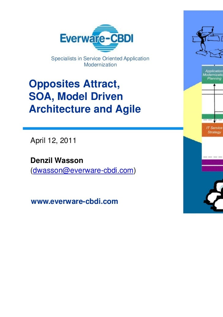 Specialists in Service Oriented Application                     ModernizationOpposites Attract,SOA, Model DrivenArchitectu...
