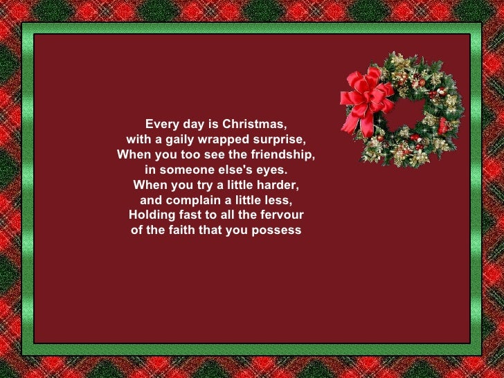 Every Day Is Christmas X