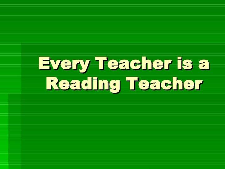 Every Teacher is a Reading Teacher