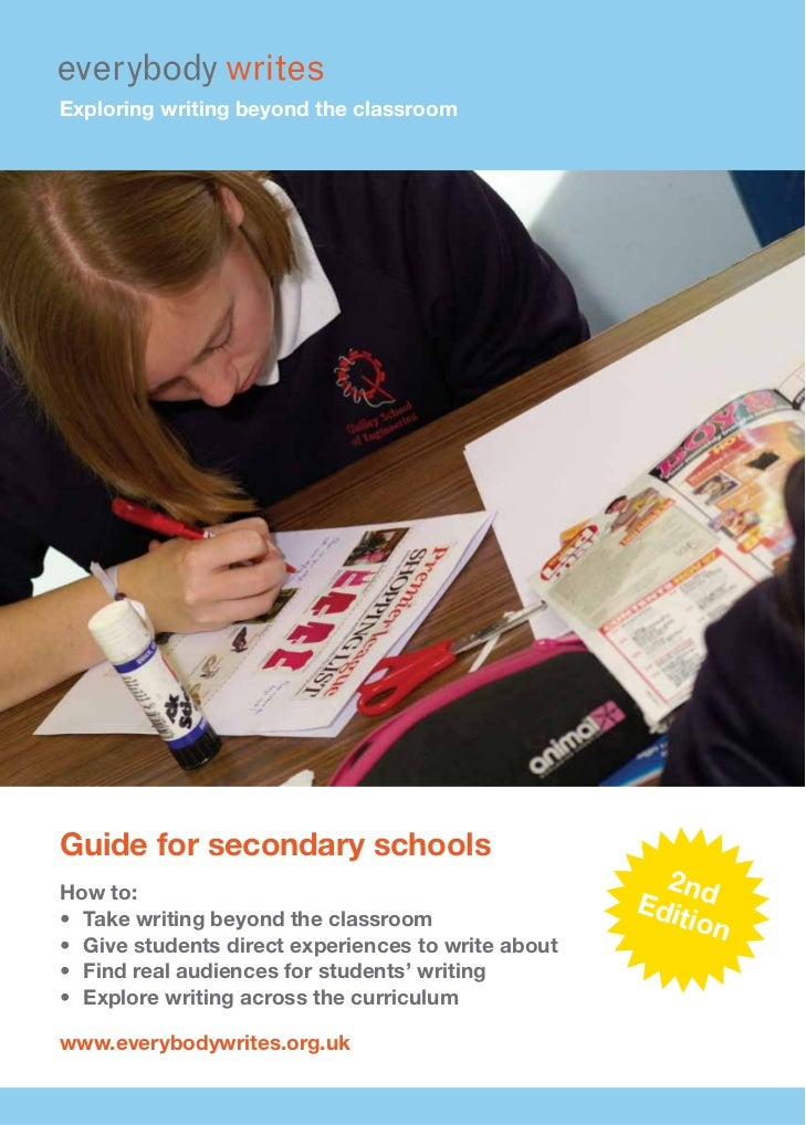 Exploring writing beyond the classroomGuide for secondary schoolsHow to:                                                  ...