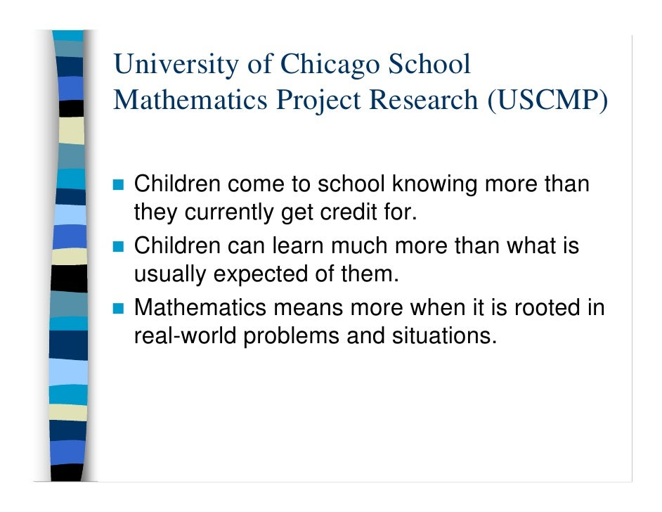 the university of chicago school mathematics project Amazoncom: algebra (the university of chicago school mathematics project) ( 9780130584151): john w mcconnell: books.