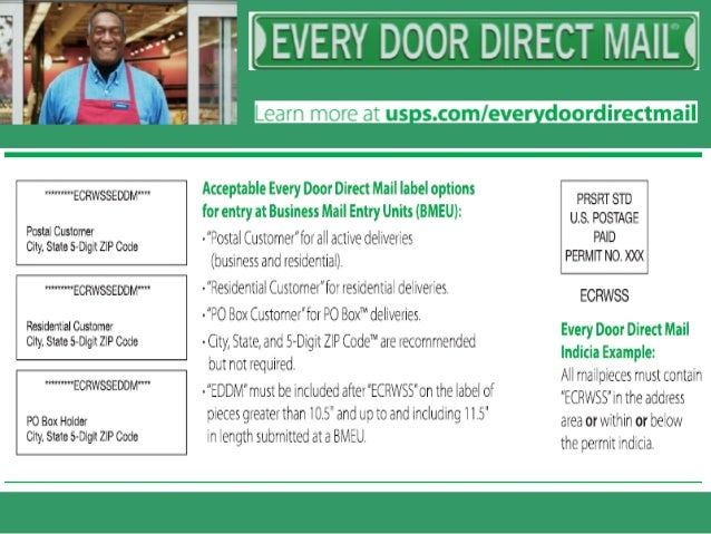 Every Door Direct Mail Business Mail Entry Unit Eddm Bmeu