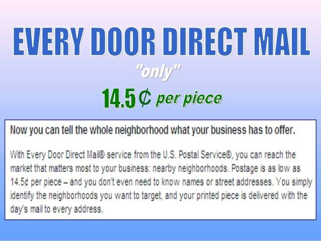 Us Postal Service Every Door Direct