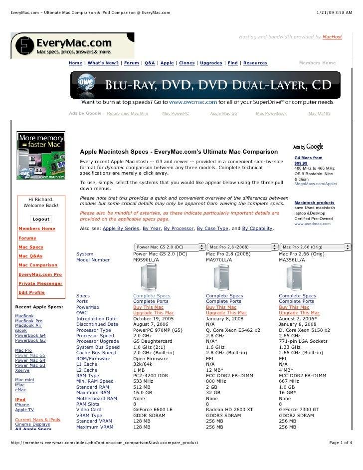 EveryMac.com - Ultimate Mac Comparison & iPod Comparison @ EveryMac.com                                                   ...