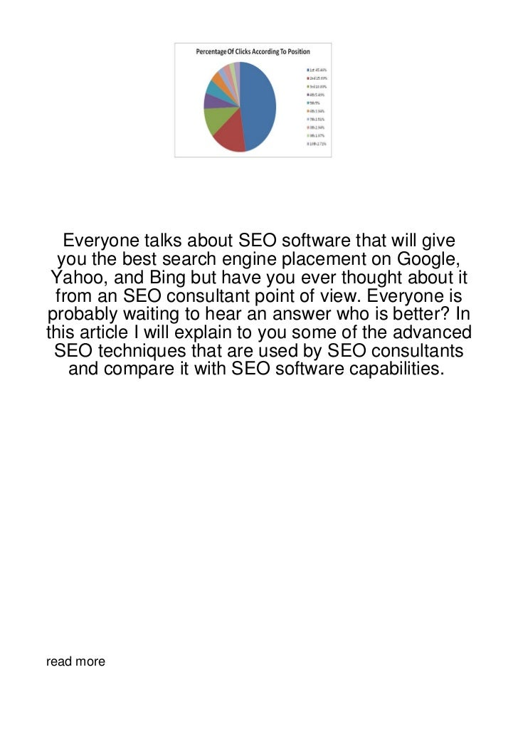 Everyone talks about SEO software that will give  you the best search engine placement on Google, Yahoo, and Bing but have...