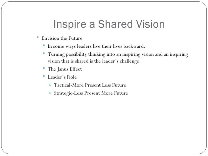 inspire a shared vision pdf